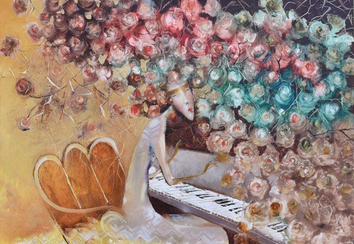 Venslausko paveikslas Pianistė