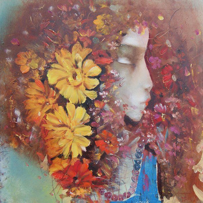 Venslauko paveikslas Žydinti moteris
